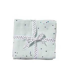 PACK 2 GASAS BURP CLOTH DREAMY DOTS 3003472 DONE BY DEER