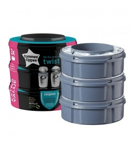 PACK 3 RECAMBIO SANGENIC TWIST & CLIK 23340 TOMMEE M+O