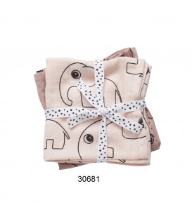 PACK 2 GASAS BURP CLOTH CONTOUR 30681, 30682, 30685 DONE BY DEER
